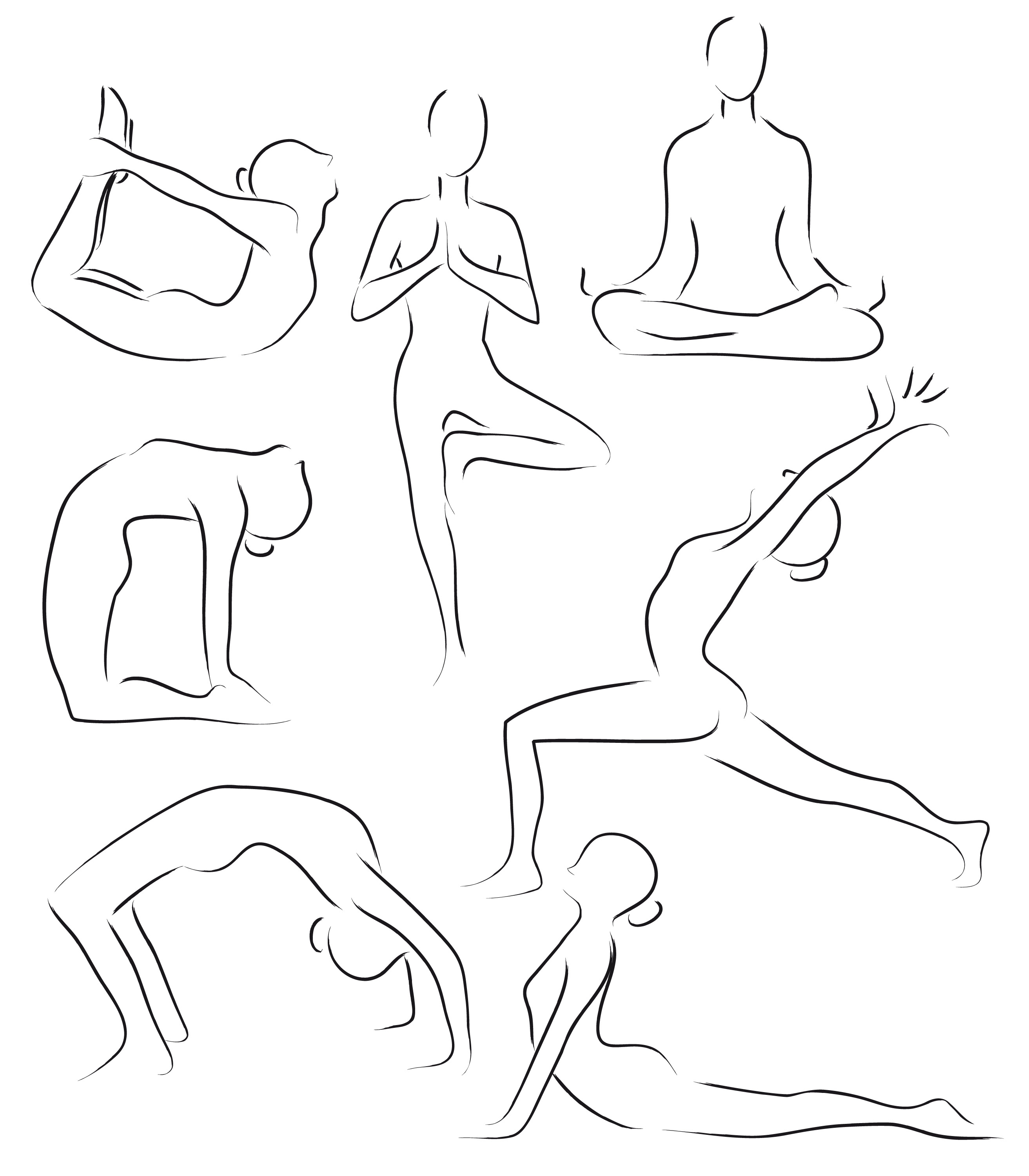 Line Drawing Yoga Pose : Are you new to yoga here a few tips get