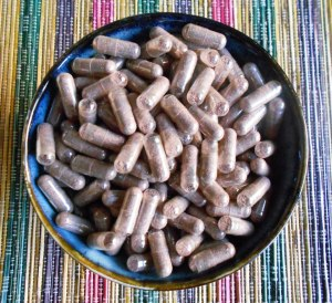 Placenta Capsules in bowl